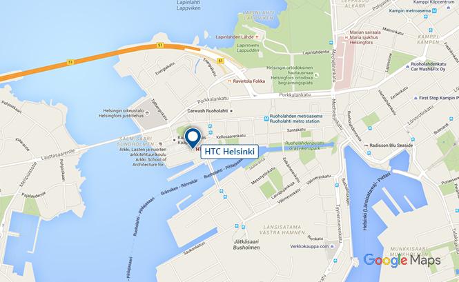 HTC Helsinki sijainti